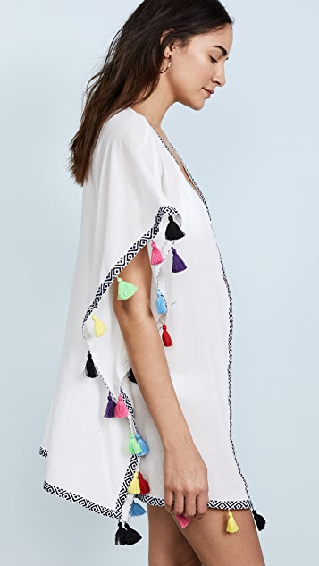 PilyQ Tassel Kimono Cover Up