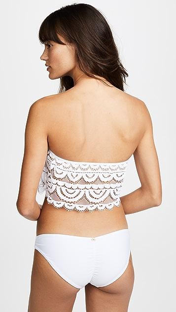 PilyQ Lace Flutter Bikini Top
