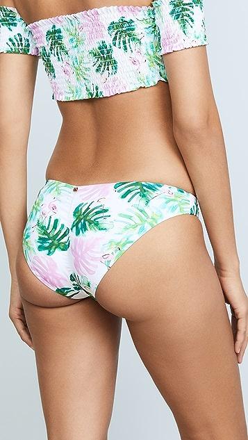 PilyQ Ruched Bikini Bottoms