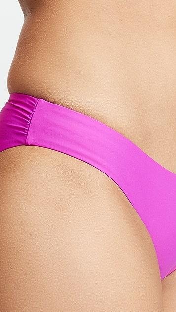 PilyQ Basic Ruched Bikini Bottoms
