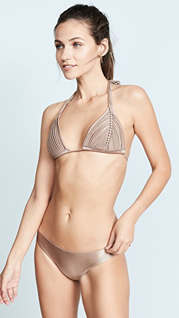 PilyQ Sandstone Isla Triangle Bikini Top