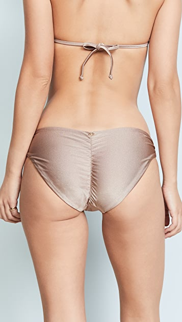 PilyQ Sandstone Basic Ruched Full Bottoms
