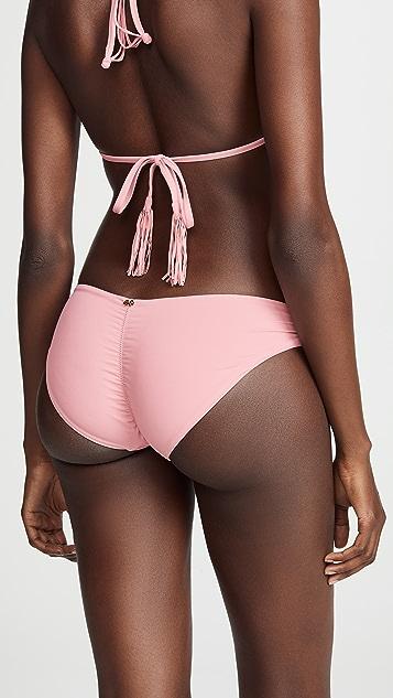 PilyQ Закрытые плавки бикини Riviera Basic со сборками