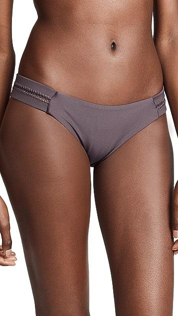 PilyQ Stitched Tab Full Bikini Bottoms