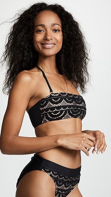 PilyQ Lace Bandeau Bikini Top