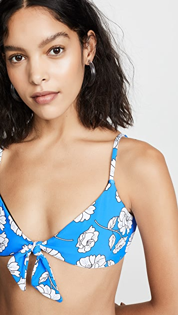 PilyQ Poppy Reversible Andrea Tie Bikini Top