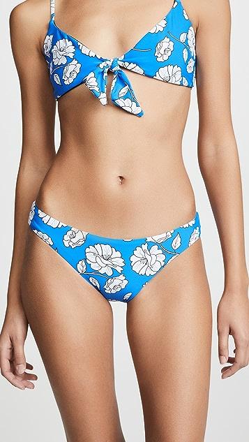 PilyQ Poppy Reversible Basic Ruched Bikini Bottoms