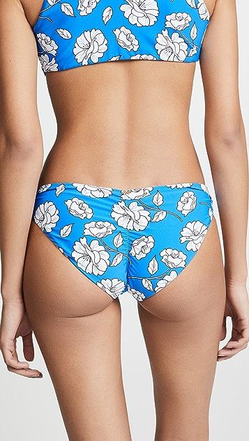PQ Swim Poppy Reversible Basic Ruched Bikini Bottoms