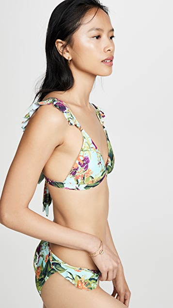PQ Swim Flora Ruffle Ring Top