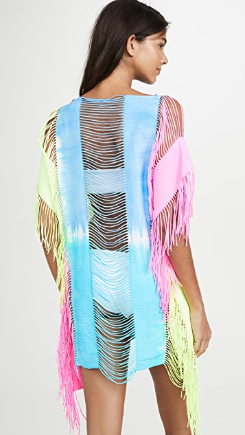 PQ Swim Neon Tie Dye Cover Up Dress