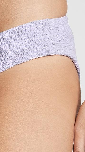 PilyQ Smocked Bikini Bottoms