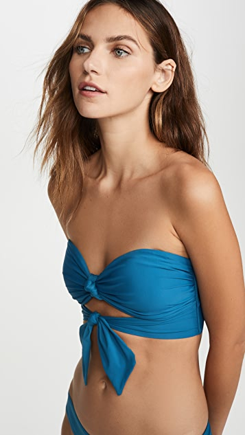 PQ Swim Knot Tie Bandeau Bikini Top
