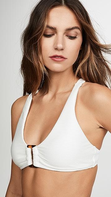 PilyQ Detail Halter Bikini Top