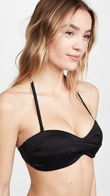 PQ Swim Black Pearl Goddess Bandeau Bikini Top