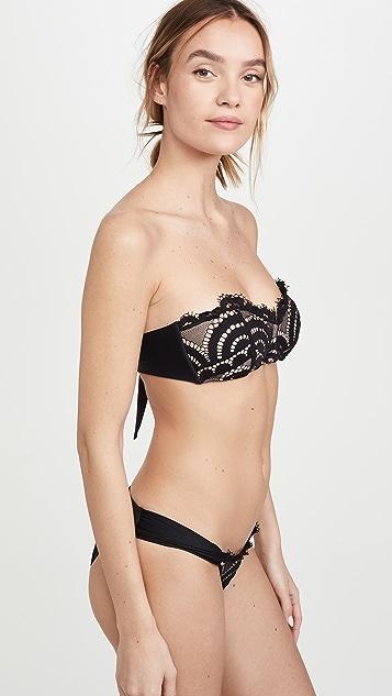 PQ Swim V Lace Bandeau Bikini Top