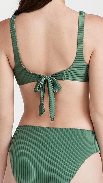 PQ Swim Reversible Drew Knot Tie Top