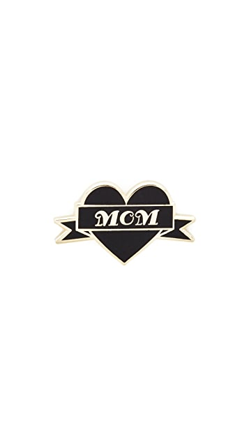 Pintrill Mom Heart Pin