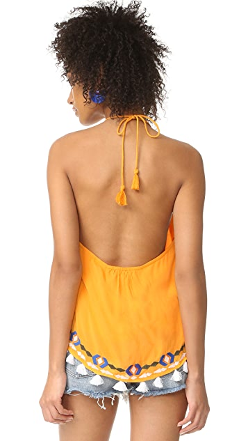 Piper Embroidered Halter Top