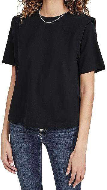 Pistola Denim Brileigh 肩垫 T 恤