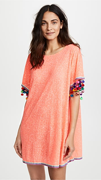 Pitusa Pom Pom Sleeve Dress