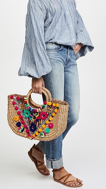 Pitusa Embellished Basket Tote