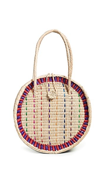 Pitusa Straw Disco Bag