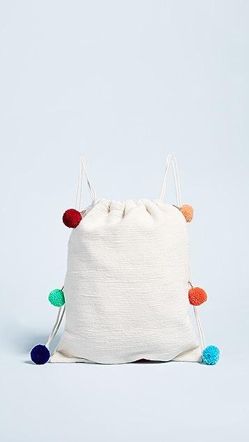 Pitusa Pom Pom Drawstring Backpack