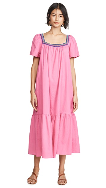 Pitusa Макси-платье с оборками