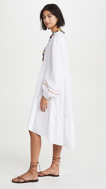 Pitusa 绒球 V 领连衣裙