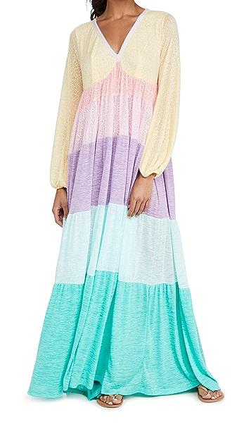 Pitusa Rainbow V Neck Dress