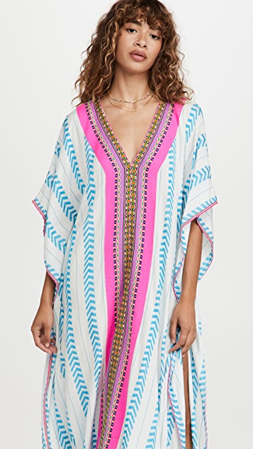 Pitusa Embroidered Throbe Cover Up