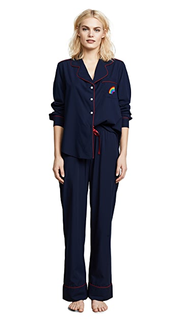 Piu Rainbow Pocket PJ Set