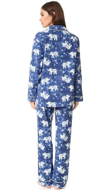 PJ Salvage Пижама PJ Salvage с принтом в виде слонов