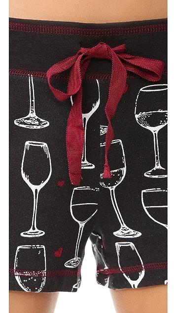 PJ Salvage Wine Is My Valentine Shorts