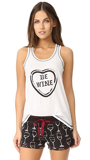 PJ Salvage Wine Is My Valentine Tank