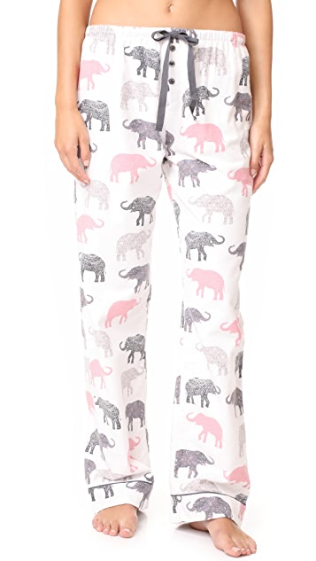 PJ Salvage Elephant Walk Flannel PJ Set