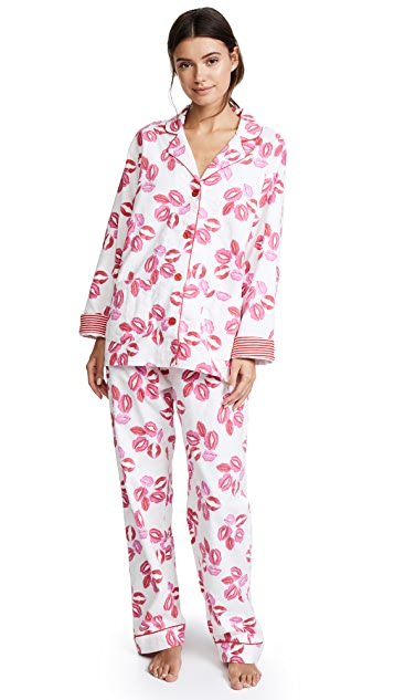 PJ Salvage Lips Flannel PJ Set