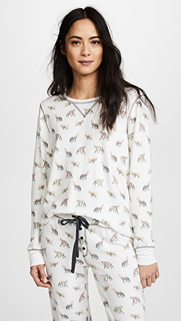 PJ Salvage Fox Lounge PJ Top