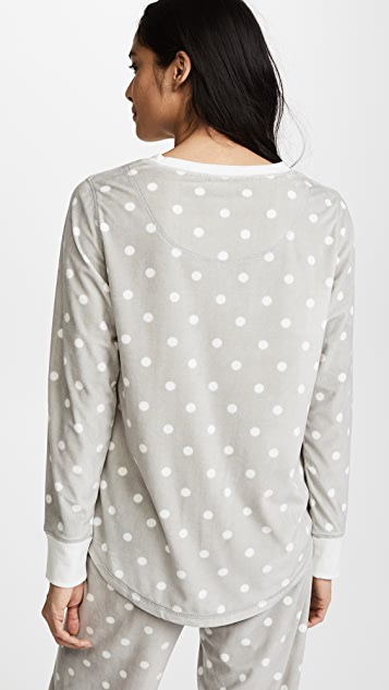 PJ Salvage Cozy Dots PJ Top
