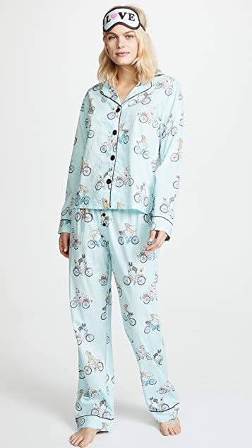 PJ Salvage Playful Prints PJ Set - Light Blue
