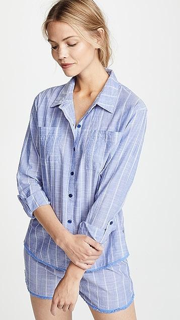 PJ Salvage Пижамная рубашка Feelin' Blue