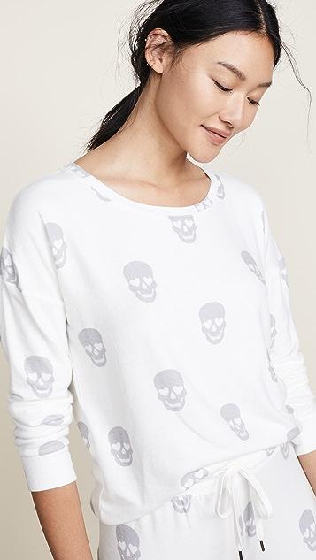 PJ Salvage Simple Skull PJ Top