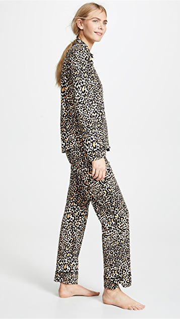 PJ Salvage Give Love Cheetah Printed PJ Set