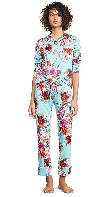 PJ Salvage Runway 花卉睡衣套装
