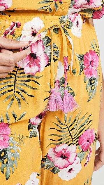 PJ Salvage Пижамные брюки Tahitian Tropics