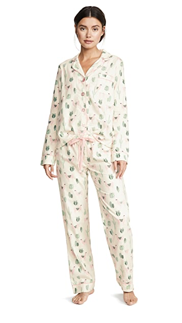 PJ Salvage Fit Flannel PJ Set