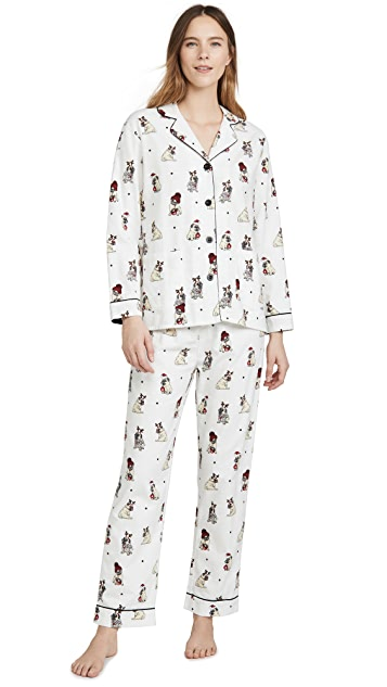 PJ Salvage Ba Hum Bug Flannel PJ Set