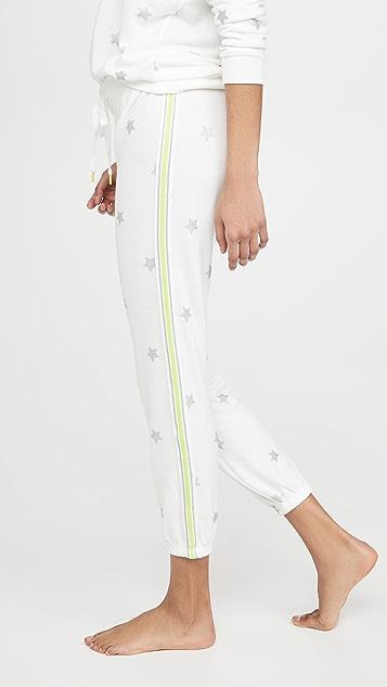 PJ Salvage 荧光色时尚星星睡裤