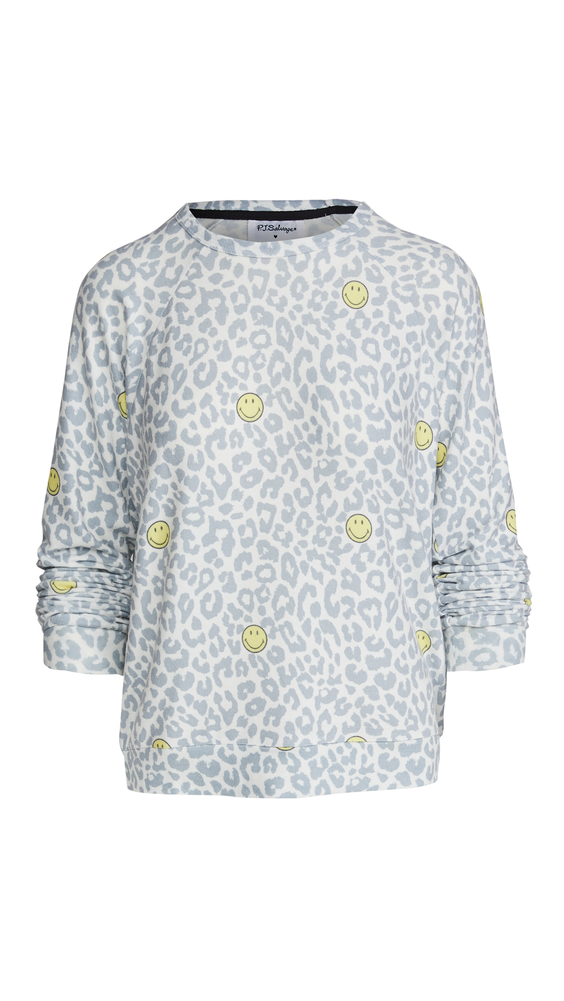 PJ Salvage Smiley Leopard Pullover
