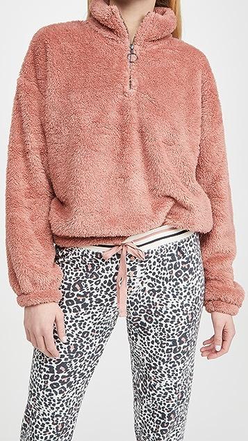 PJ Salvage Cozy Cuddler 半长拉链系扣套头衫